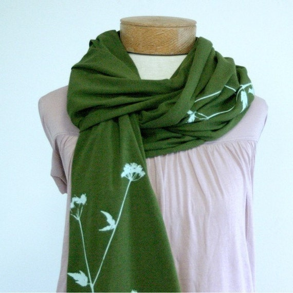 Olive Queen Annes Lace Scarf