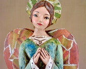 Tall Rustic Folk Art Angel Sculpture one of a kind direct from Artist April Harres