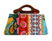 Handbag in bright morning prairie