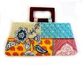 Summer in Marrekech purse with wooden handles