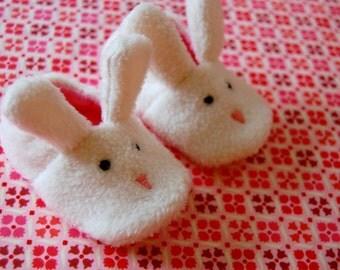 Bunny slippers baby booties