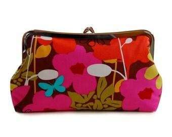 Clutch purse in Spring pop