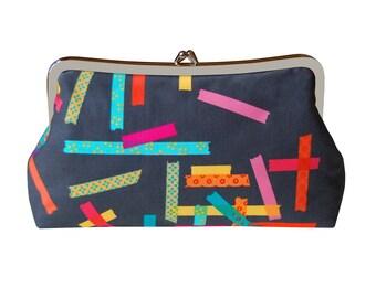 Washi tape clutch purse