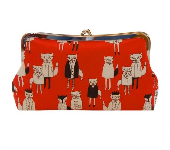 Dapper fox clutch purse