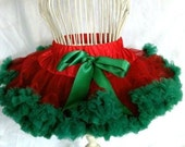 Close Out... sz 5 to 7y .Red and Green Pettiskirt  ready to ship