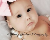 Pink Bow & Brown  Headband by I Luv U Tutu Much Boutique