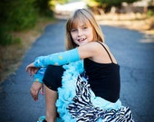Close Out  ......Sz 3 to 5 yr old Aqua zebra Pettiskirt ready to ship