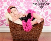 Close out.....Ready to ship Black and Hot Pink  Pettiskirt sz NB to 14mons
