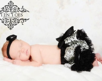 Close Out .Ready to ship Leopard  Print  Pettiskirt sz NB  to 12 to 14m
