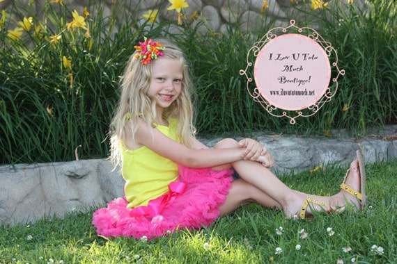 Hot Pink pettiskirt for 14m to 3yrs old