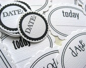 Dates and Days Tags Mega Pack Scrapbook Embellishments