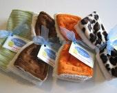 Set of Two Plush Washcloths for Infants