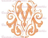 Antique, engraved monograms (one color)