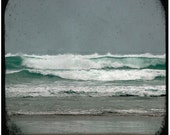 White Water Green Sea Part 2 - 8 x 8 Fine Art Photographic Print