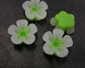 6pc 14mm Resin Flower Cabochon-3718