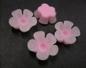 6pc 14mm Resin Flower Cabochon-3717