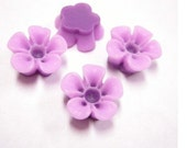 6pc 14mm Resin Flower Cabochon-3720