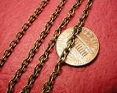 5 feet 4x3mm antique bronze cross chain-1774A