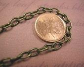 5 feet 6.5x4mm antique bronze cross chain-4024