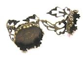 4pc antique bronze ring component-4971