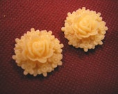 2pc Vintage 26mm resin flower cabochon-115