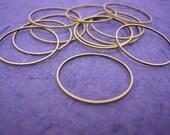 12pc 28mm antique bronze smooth metal ring-617