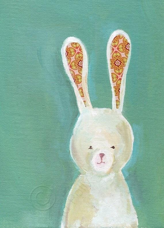 Pink Fabric Eared Bunny