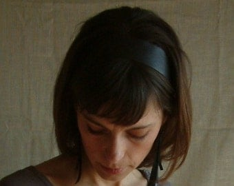 Brown Leather 'Audrey Hepburn' Headband by Hende