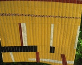 Modern Art Quilt, Wall Hanging, textile art, table mat, Art Quilt, abstract design, Art Quilt Lines No 3