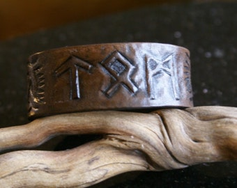CUSTOM MADE-Your NAME in runes-Celtic Leather Wristband-Celtic Leather Wristband-Norse Wristband-Runic Writing Wristband-Leather wristbands