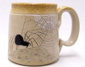 Spider and Web by Moonlight Pottery Coffee Mug Limited Series 124