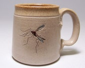 RESERVED for PRUZ Mosquito set of 4 Pottery Coffee  Mugs Limited Series147, 153, 155,156 (microwave safe)