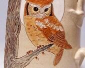 Owl and Moon Pottery Coffee Mega Mug Limited Series 186 (microwave safe) 24 ounce