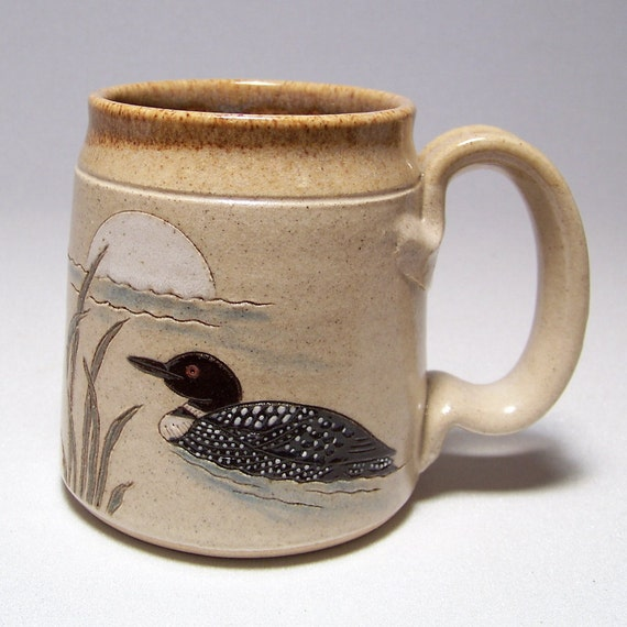 Loon and Moon Pottery Coffee Mug Limited Series 166 (microwave safe)12oz