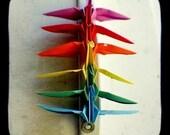 Origami Rainbow Peace Cranes - TtV Photography Print