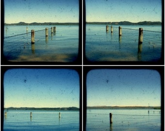 Nature Landscape Photography Print Set 4x4 TtV Photographs Ocean Blue Sky Island Beach Photos