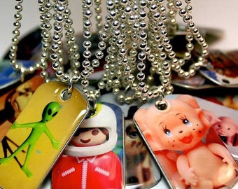 Mini Dog Tag Pendants - Choose from any of my Original Photographs