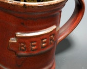 Deep Red Beer Stein