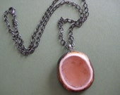 Peachy Oval Pendant