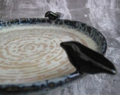 Ravens Dish - candle holder, bird seed holder, candy dish