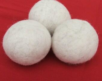 Natural Wool Dryer Balls -- Set of Three