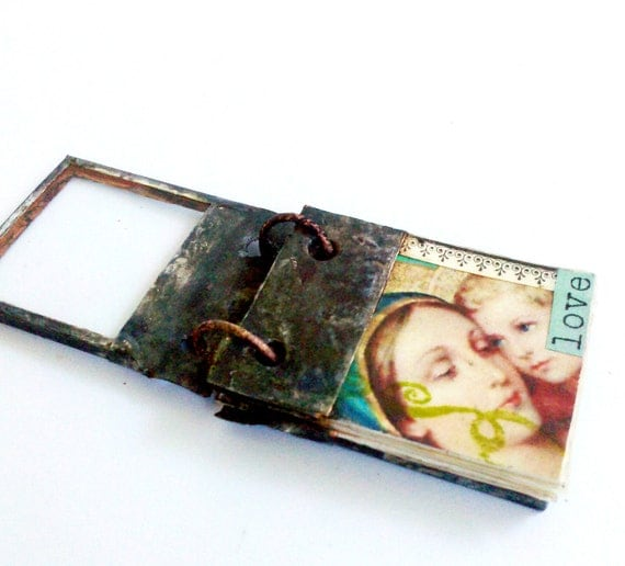 Miniature Book Pendant Glass Journal Tiny Journal Book Charm Book Necklace Collage Art Journal Jewelry Gift For Writer Gift for Book Lover