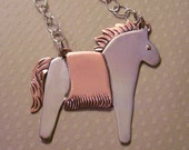 Sterling Pony Pendant Necklace