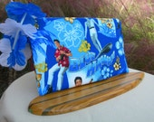 Elvis Surfs Blue Hawaii Lined Zipper Bag Pouch Clutch