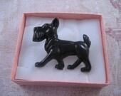 Cute Retro 50's Style Scottie Dog Brooch Pin