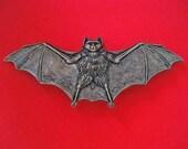 Large Brass Bat Brooch