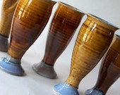 Amber Wine Glasses set of 4