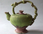 "Reserve for ""Pastiche"" - Miniature Curly Teapot Green On Sale"