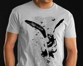 Angel - Crouching Angel Printed Tshirt - Colors Black grey - Size Large