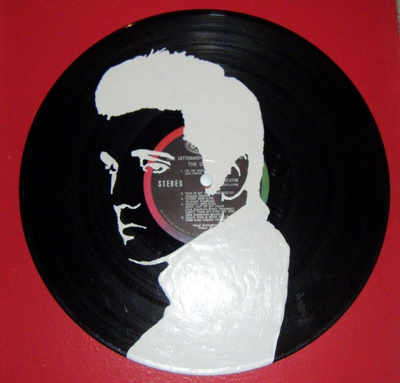 SALE- Elvis hand painted Vinyl Record